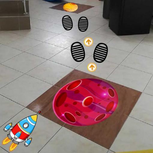 Personalizare sticker podea