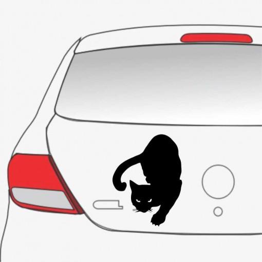 Sticker auto Pisica neagra 3