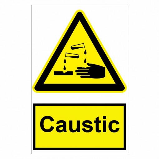 Sticker indicator Caustic