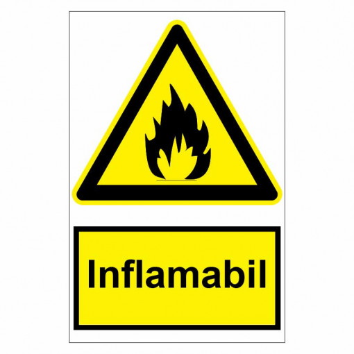 Sticker indicator Inflamabil