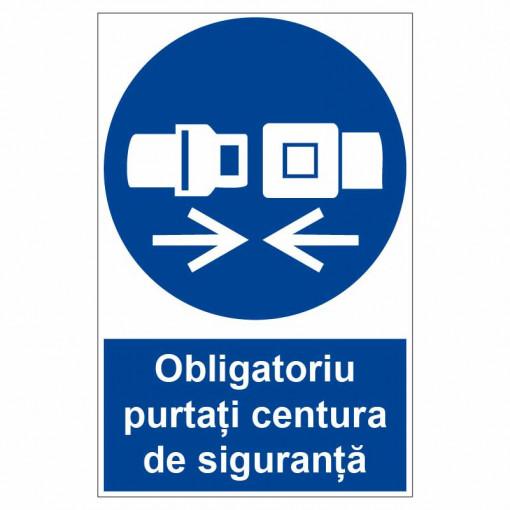 Sticker indicator Obligatoriu purtati centura de siguranta