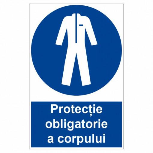 Sticker indicator Protectie obligatorie a corpului