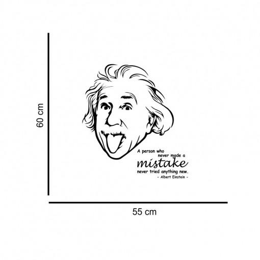 Sticker perete Einstein - Anything new