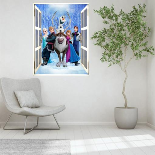 Sticker perete Frozen 3D 50 x 70 cm