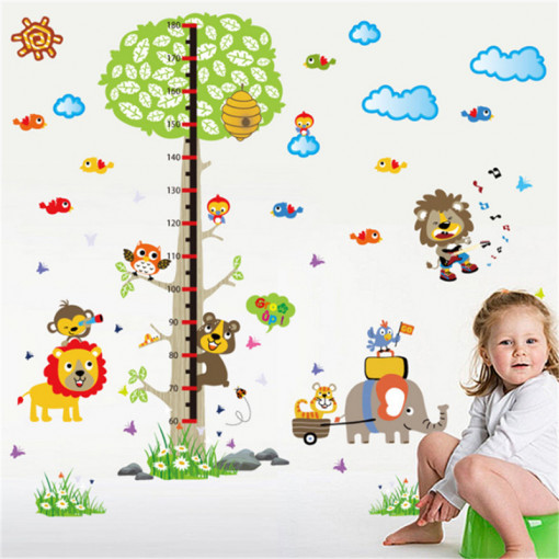 Sticker perete Grow Up Animals Tree