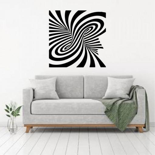 Sticker perete Optical Illusion Square