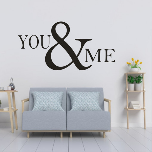 Sticker perete You and Me