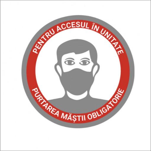 Sticker indicator Purtarea mastii de protectie este obligatorie
