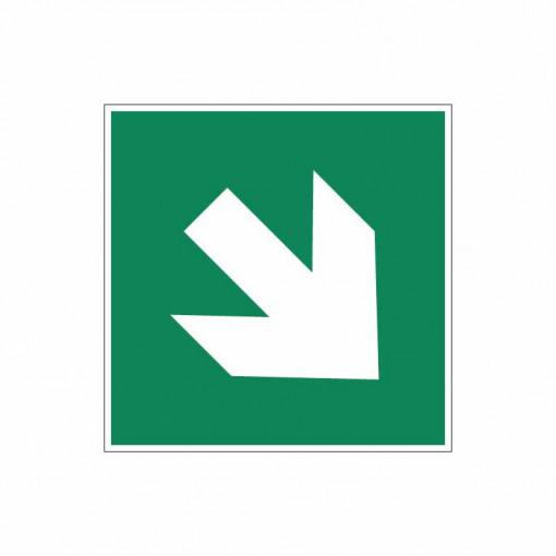 Sticker indicator Sageata de directie unghi de 45˚