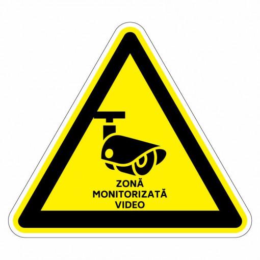 Sticker indicator Zona monitorizata video