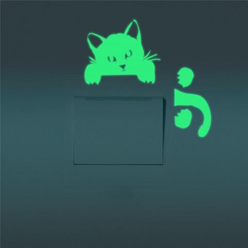Sticker intrerupator Glow in the Dark Cat