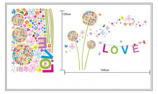 Sticker perete Colorful Dandelions