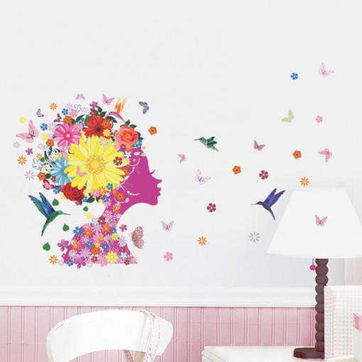 Sticker perete Flowers Magic 50x70cm