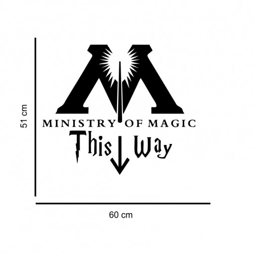Sticker perete Ministry of Magic