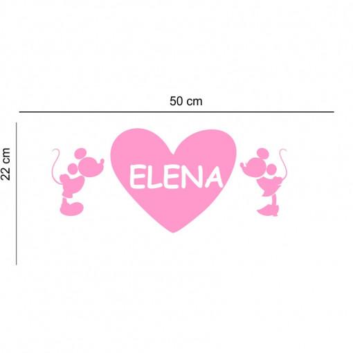 Sticker perete personalizat My Name Girl 8