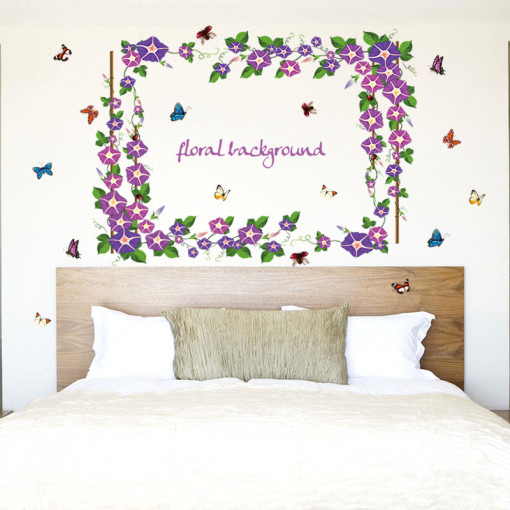 Sticker perete Purple Vines