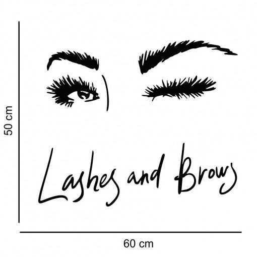 Sticker perete Salon Eyelashes 1