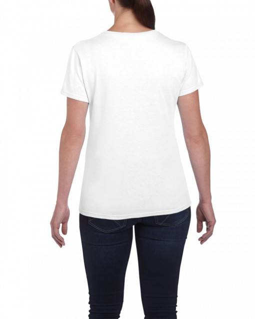 Tricou personalizat dama alb Stai Acasa S