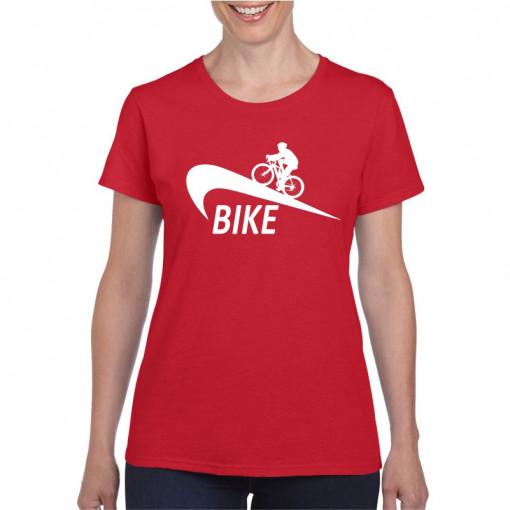 Tricou personalizat dama rosu Bike S