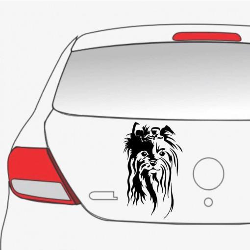 Sticker auto Yorkie 1