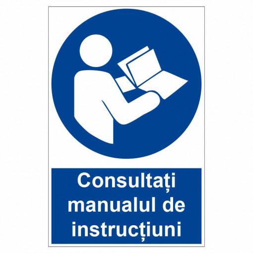 Sticker indicator Consultati manualul de instructiuni