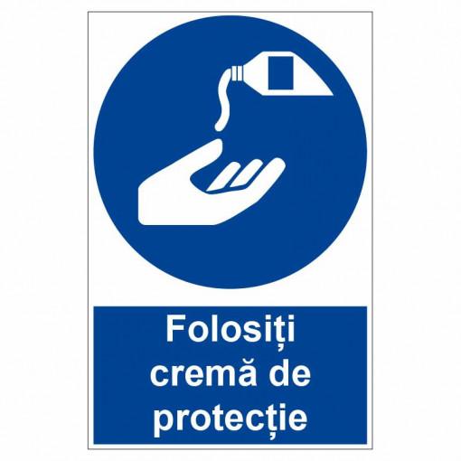 Sticker indicator Folositi crema de protectie