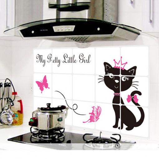 Sticker perete Black Cat Kitchen Decor