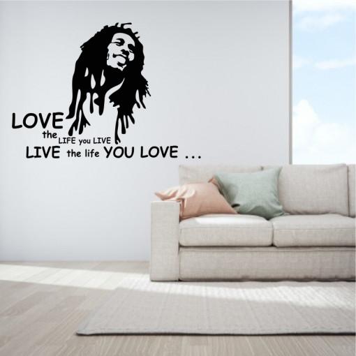 Sticker perete Bob Marley