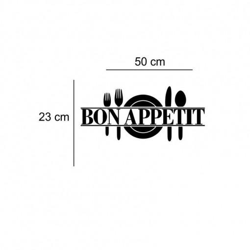 Sticker perete bucatarie Bon Appetit