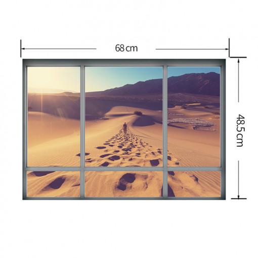 Sticker perete Desert 3D Window