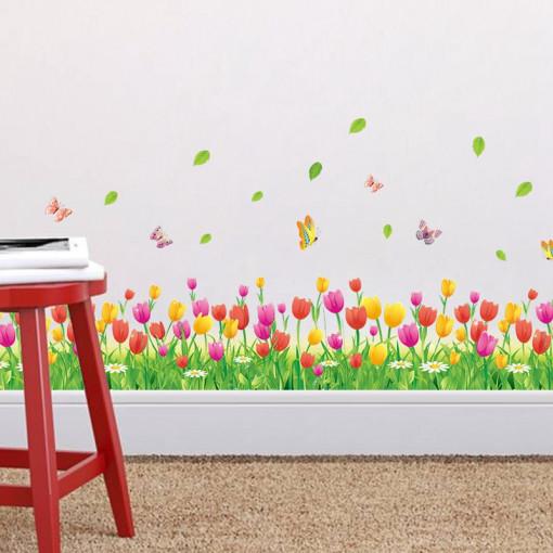 Sticker perete / geam Lalele Colorate