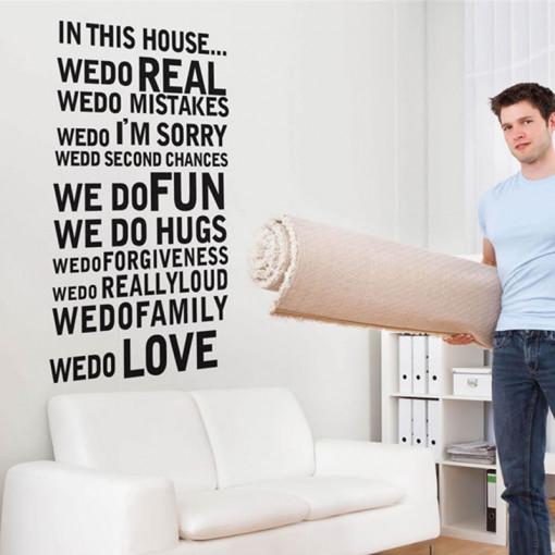 Sticker perete House rules