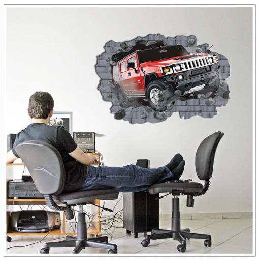 Sticker perete Hummer 3D 100 x 70 cm