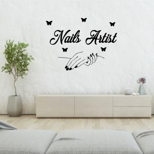 Sticker perete Nail Salon 2