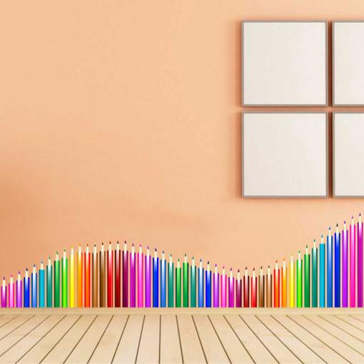 Sticker perete creioane colorate 1