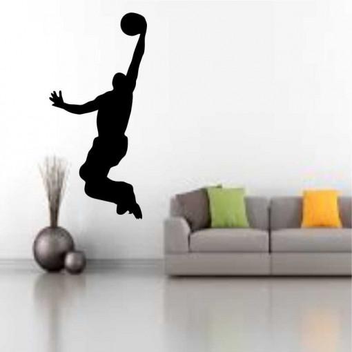 Sticker perete Silueta jucator de baschet