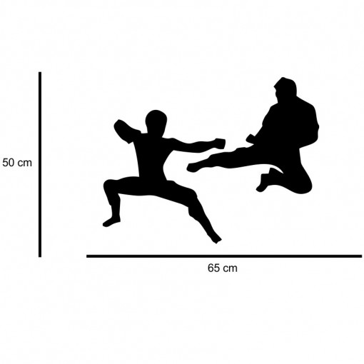 Sticker perete Siluete Karate 3