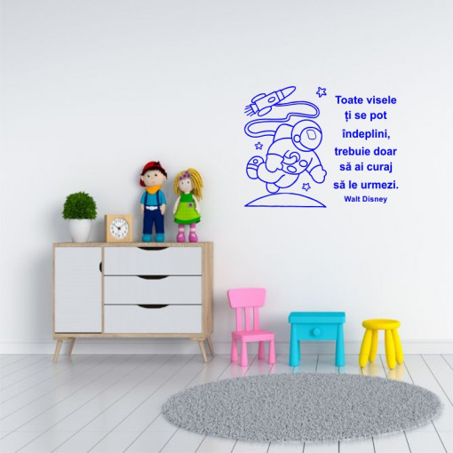 Sticker perete Urmeaza-ti Visele