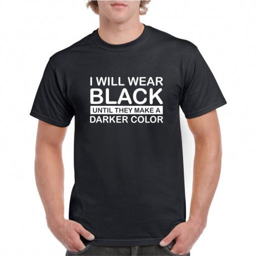 Tricou personalizat barbati negru I will wear black
