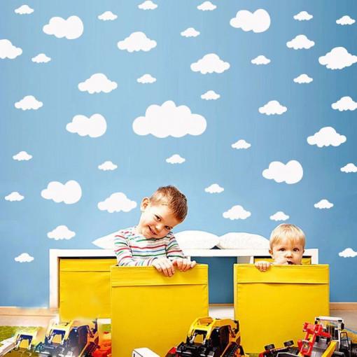 Set stickere perete Norisori Albi