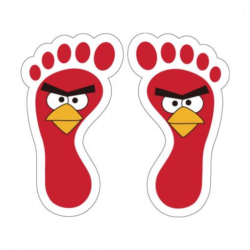 Set stickere podea Picioruse Angry Birds