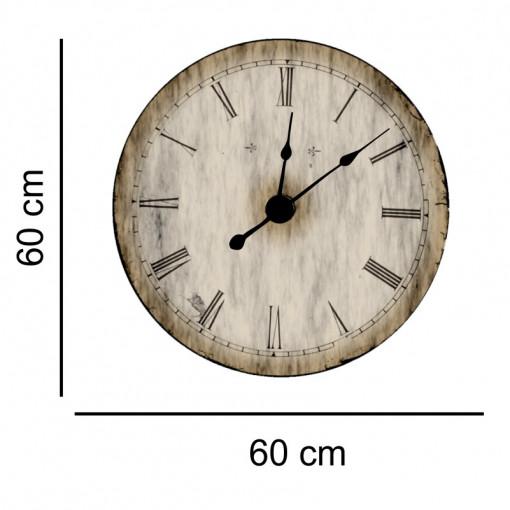 Sticker decorativ ceas vintage wood