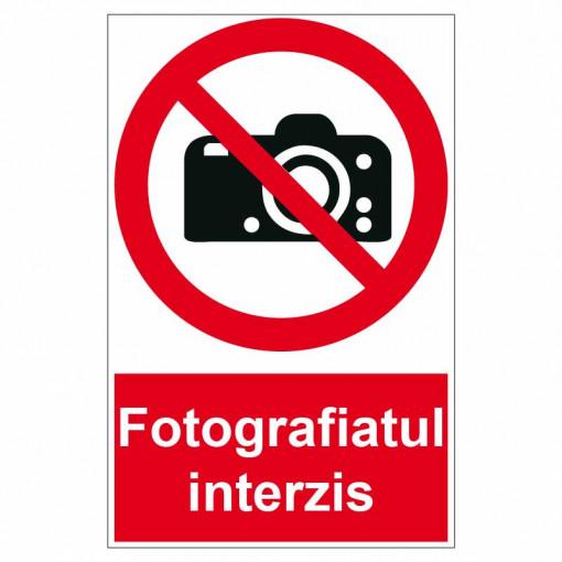 Sticker indicator Fotografiatul interzis