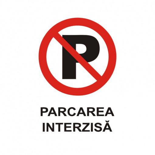Sticker Indicator Parcarea Interzisa