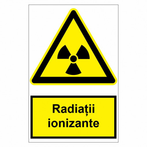 Sticker indicator Radiatii ionizante