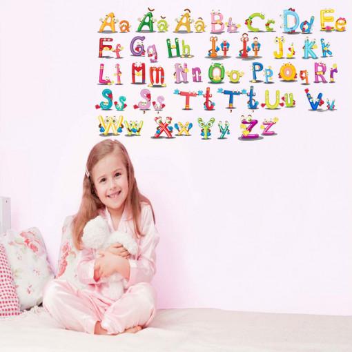 Sticker perete Alfabetul Vesel al limbii romane 3