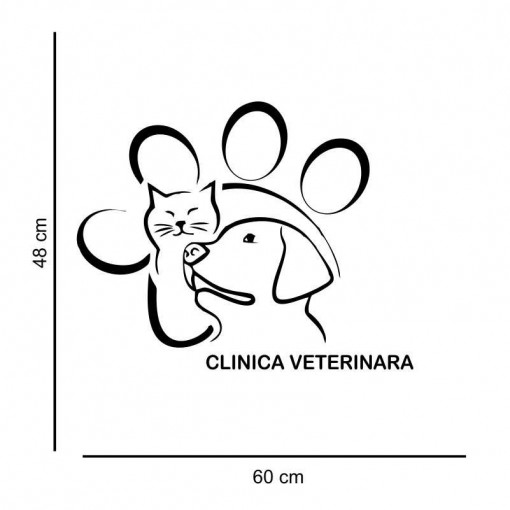 Sticker perete Clinica Veterinara 3