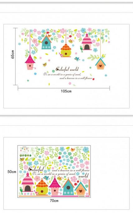 Sticker perete Colorful World