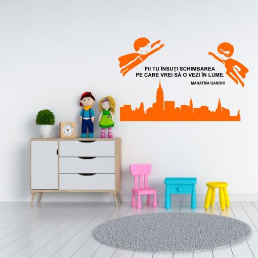 Sticker perete Fii Tu Schimbarea