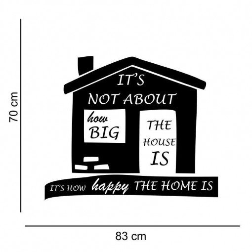 Sticker perete It s not about how big the house is